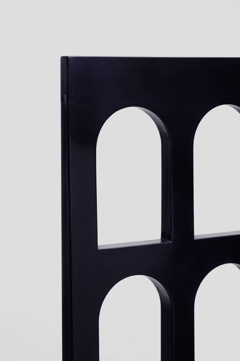 Italy Black Chair 'Lacquered Wood' by Dmitry Samygin 6