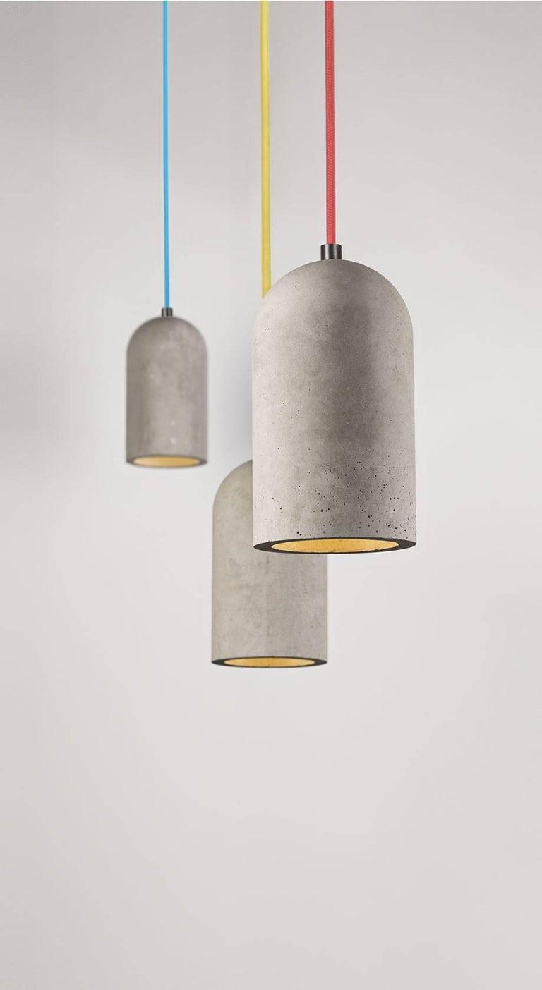 Industrial U Concrete Ceiling Lamp by Bentu Design For Sale