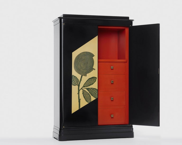 """Art Deco Cabinet"" is a storage cabinet by the young Russian designer Dmitry Samygin. With this realization Dmitry pays tribute to the artist Jean Dunand.
