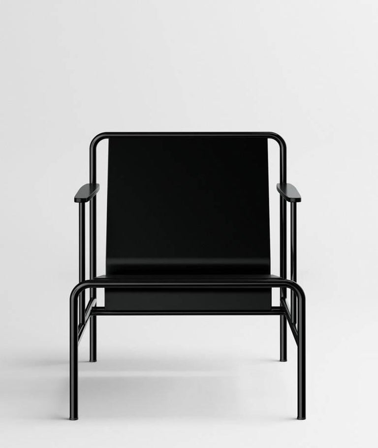 Russian 'N' Armchair 'Art Deco and Black Lacquered Wood' by Dmitry Samygin For Sale