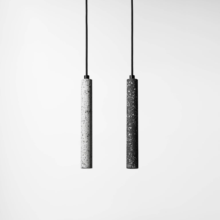 Bang, Black Terrazzo and Concrete Ceiling Lamp by Bentu Design In New Condition For Sale In Paris, FR