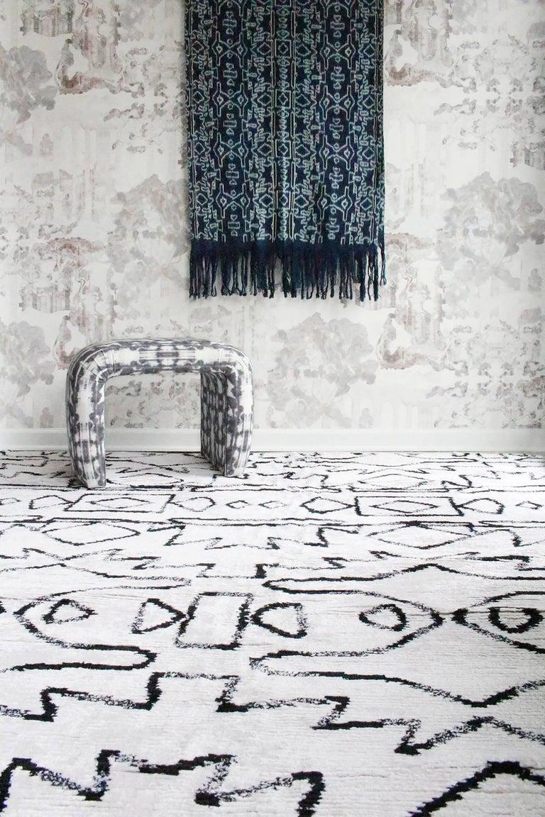 Hand-Knotted Eskayel, Akimbo Rug, 100% Silk Lulu Weave For Sale