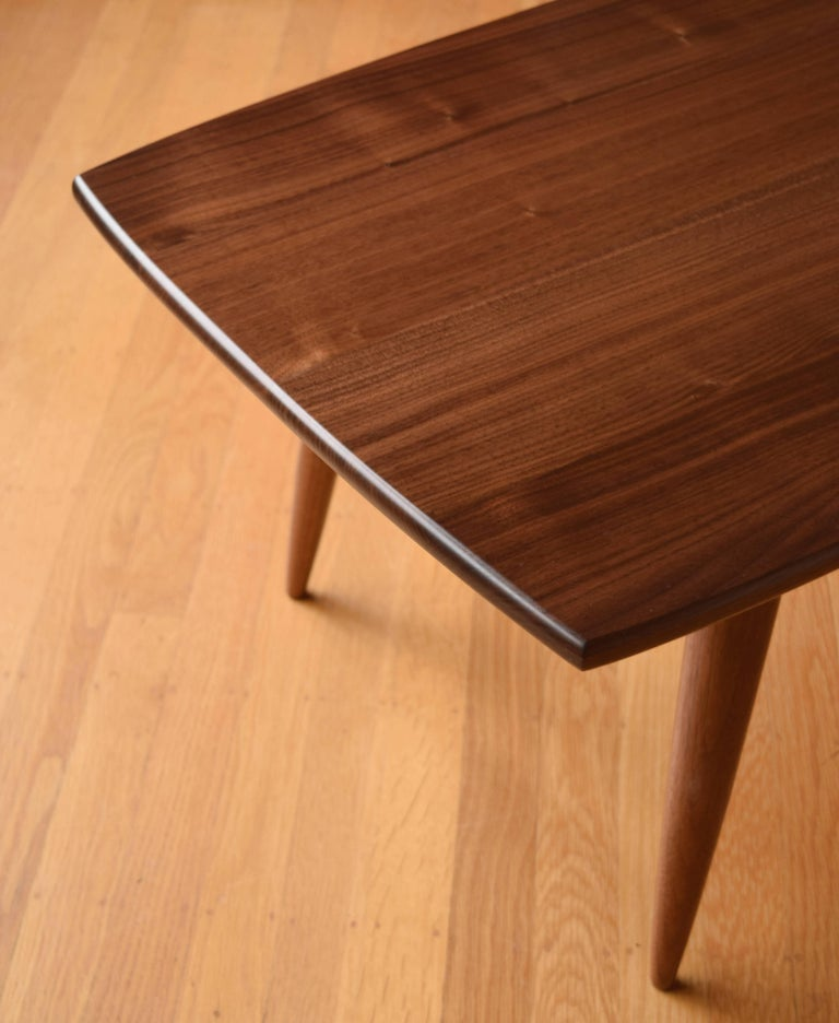Modern Coffee Table in Black Walnut with Oil and Wax Finish In New Condition For Sale In Portland, OR