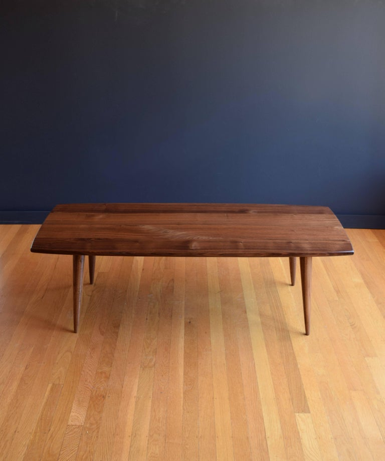 Modern Coffee Table In Black Walnut With Oil And Wax Finish For Sale At 1stdibs