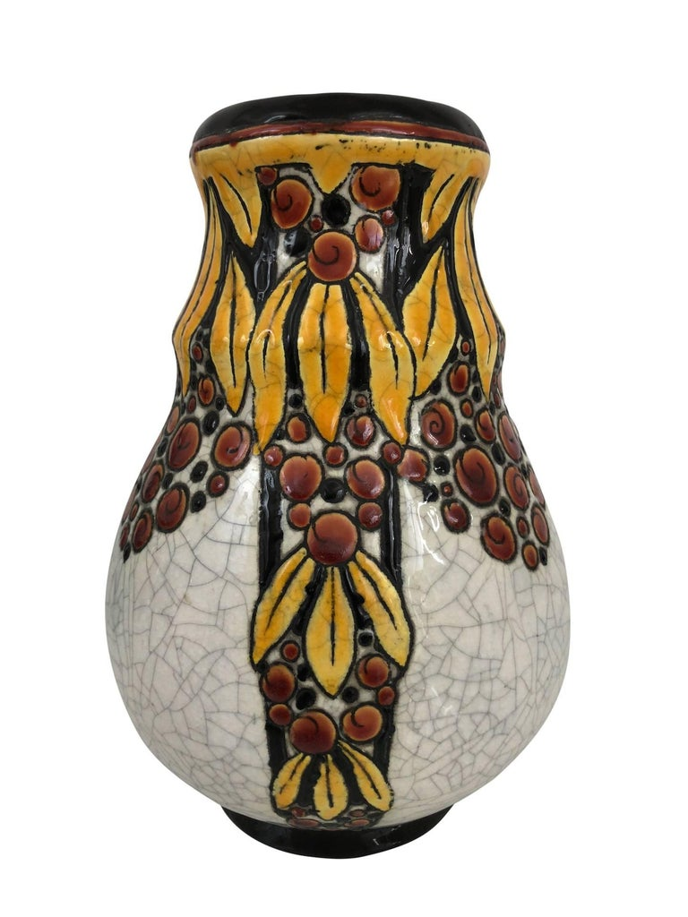 Vase B.F.K. La Louvière Belgiques by Charles Catteau, Art Deco, Belgium, 1930 In Excellent Condition For Sale In Baden-Baden, DE