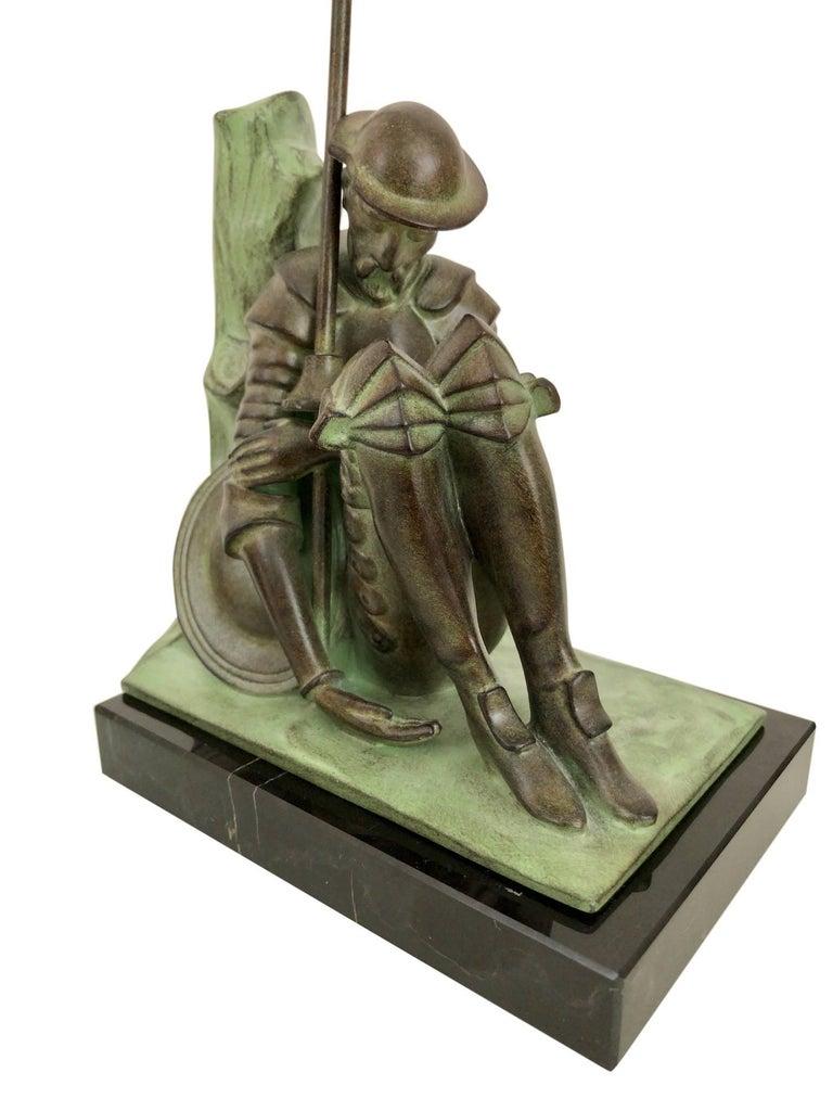 Contemporary Art Deco Bookends, Don Quichotte by Janle, Original Max Le Verrier For Sale
