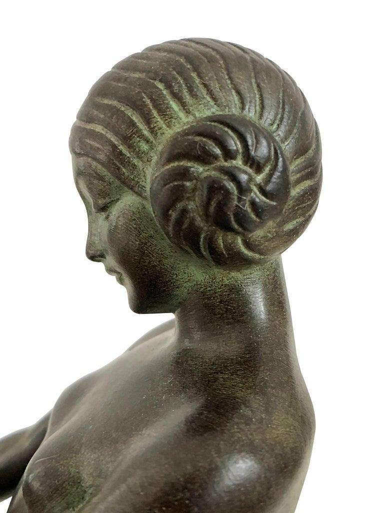 Art Deco Bookends, Cueillette, Original Max Le Verrier For Sale 2