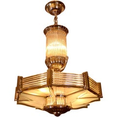 1930s Ceiling Lamp by Petitot, French Art Deco