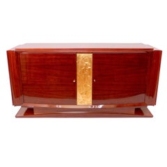 1930s Sideboard in Indian Rosewood, French Art Deco