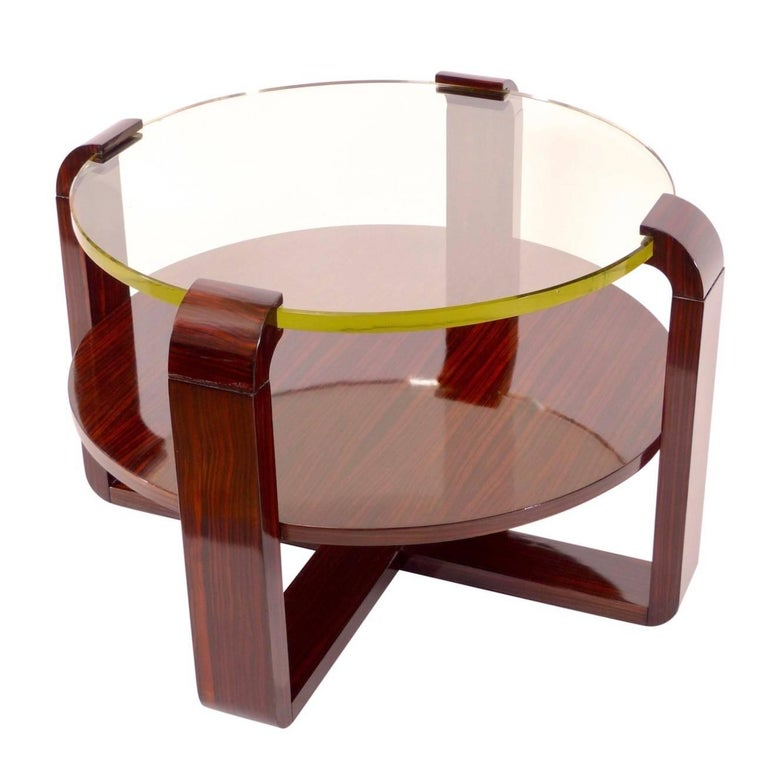 1930s Side Table in Macassar, French Art Deco