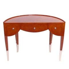 1920s semicircle desk in amboyna french art deco - Herman Miller Schreibtisch