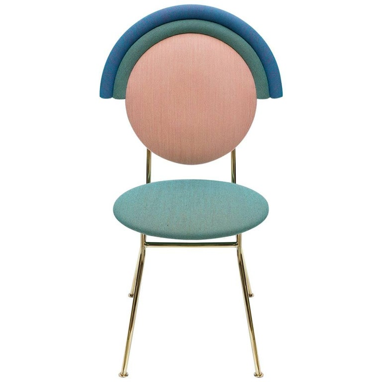 Iris Chair In Yellow Pink And Pale Blue Kvadrat Fabric And