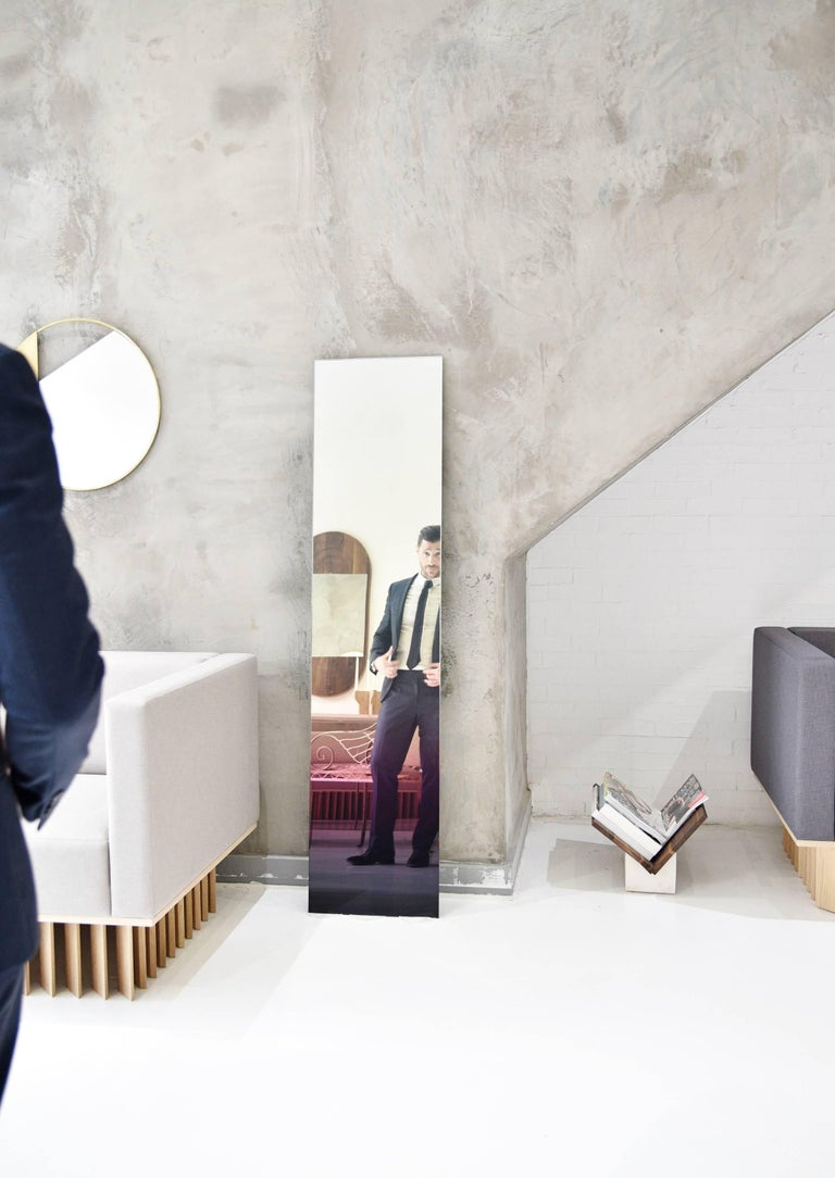 Modern Ombre Glass Mirror Large Floor Length Wall Mirror  For Sale