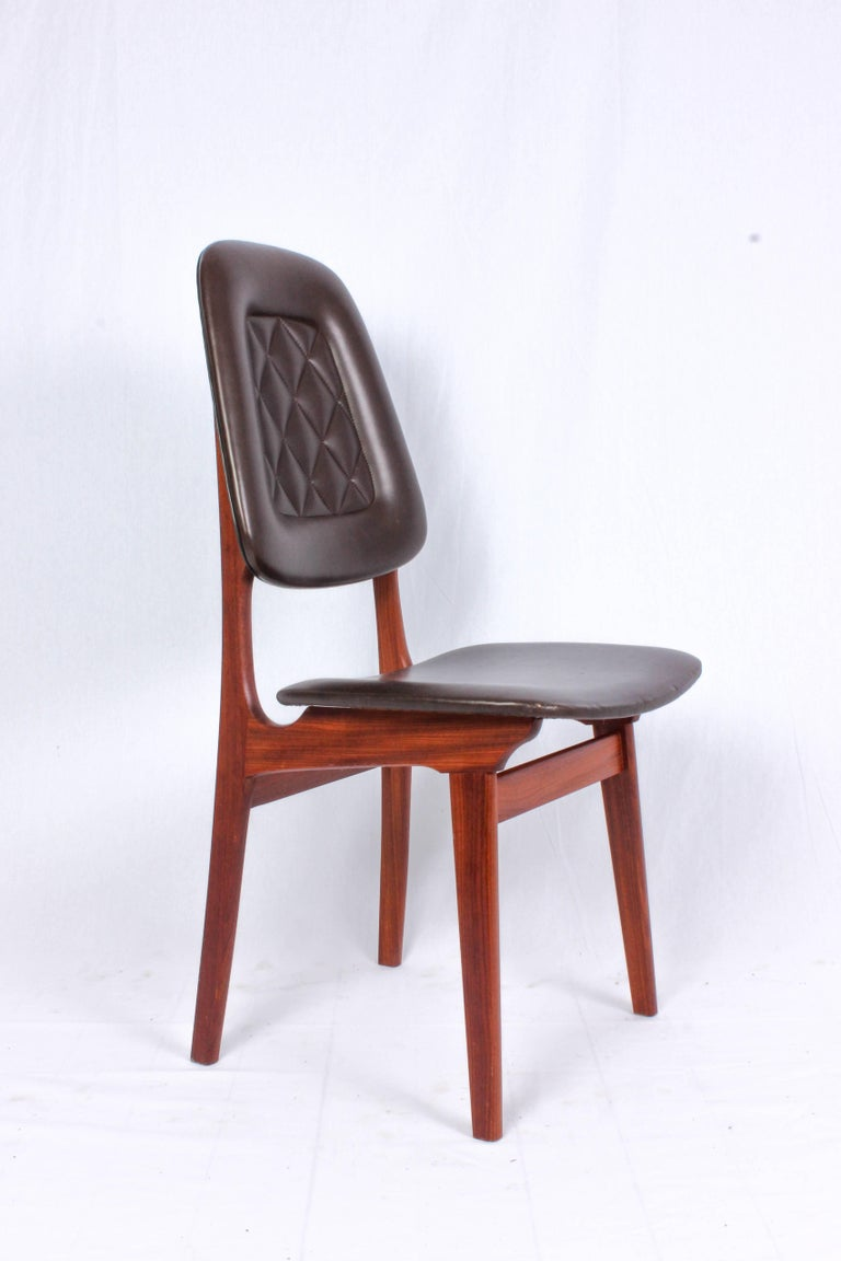Midcentury Norwegian Dining Chairs by Brødrene Sørheim In Good Condition For Sale In Malmo, SE