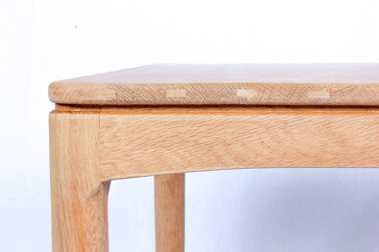 Scandinavian Modern Midcentury Oak Side Table