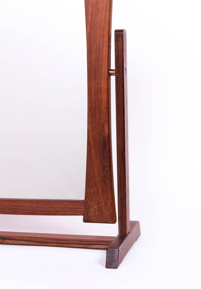 Midcentury Scandinavian Table Mirror In Good Condition For Sale In Malmo, SE
