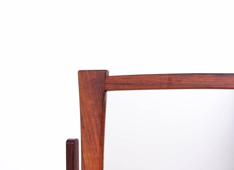Brass Midcentury Scandinavian Table Mirror For Sale