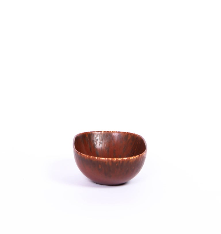 Scandinavian Modern Midcentury Carl-Harry Stålhane Ceramic Bowl by Rörstrand For Sale