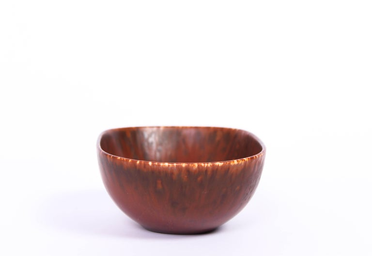 Midcentury Carl-Harry Stålhane Ceramic Bowl by Rörstrand In Good Condition For Sale In Malmo, SE