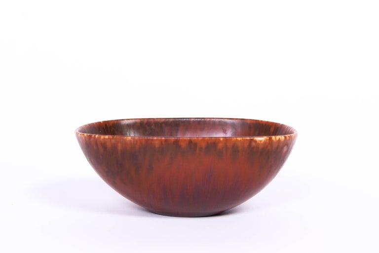 Midcentury Carl-Harry Stålhane Ceramic Bowl by Rörstrand For Sale 1
