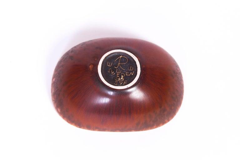 Midcentury Carl-Harry Stålhane Ceramic Bowl by Rörstrand For Sale 4