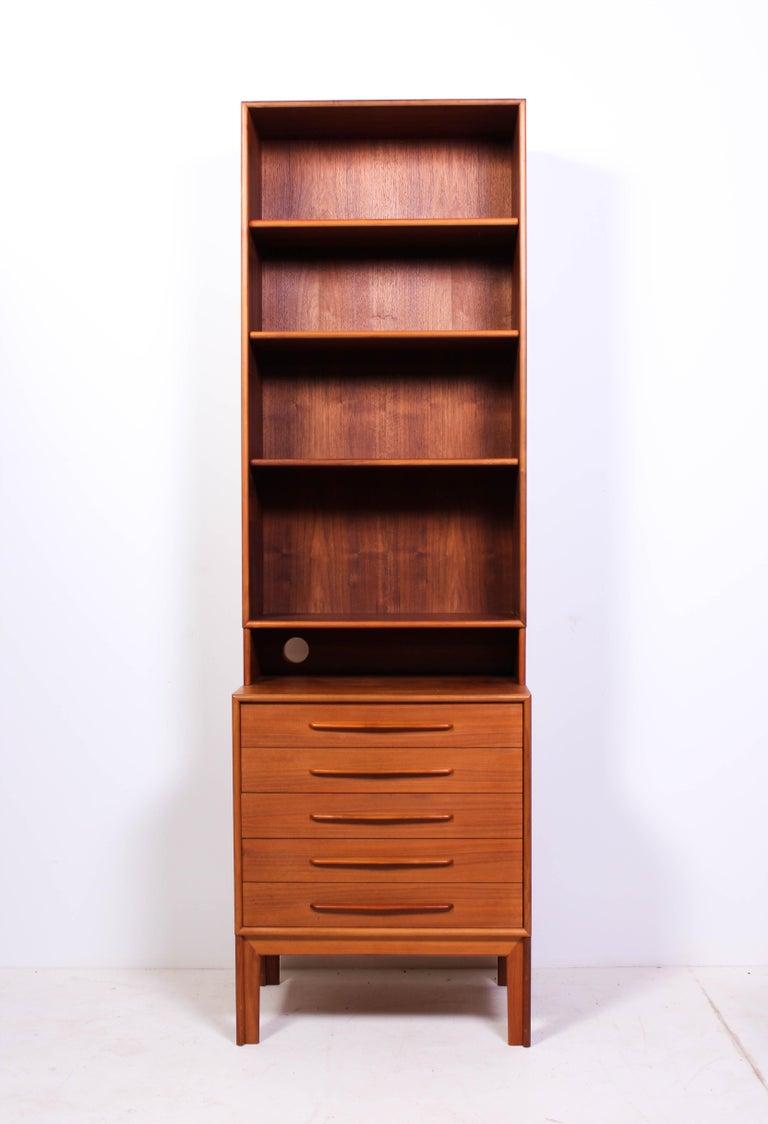 Scandinavian Modern Midcentury Teak Bookcases by Alf Svensson For Sale
