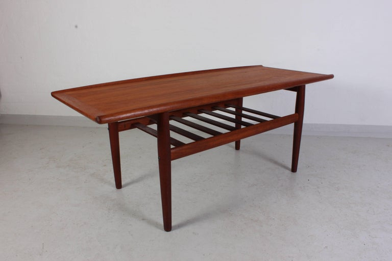 Midcentury Teak Coffee Table By Danish Designer Grete Jalk Produced Manufacturer Glostrup The