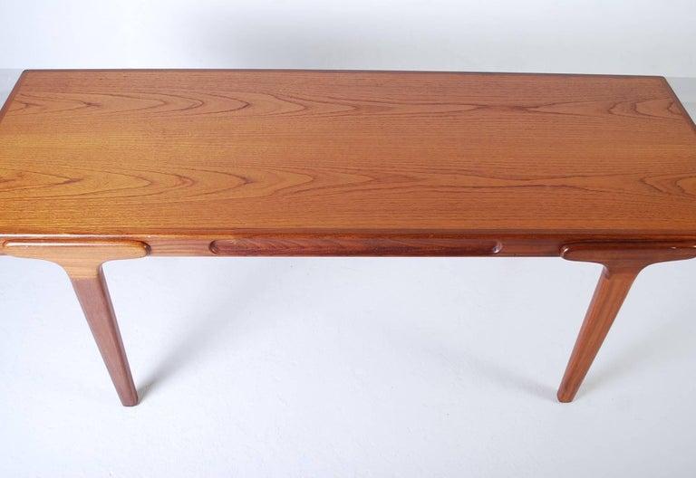 Midcentury Danish Teak Coffee Table, 1950s For Sale 3