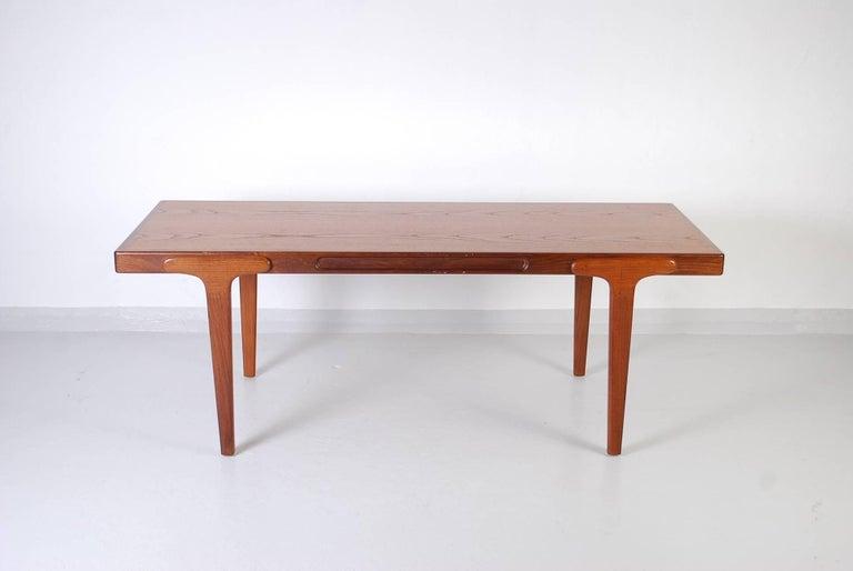 Midcentury Danish Teak Coffee Table, 1950s For Sale 5