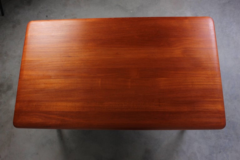 Mid-20th Century Danish Midcentury Solid Teak Coffee Table with Crossed Legs For Sale