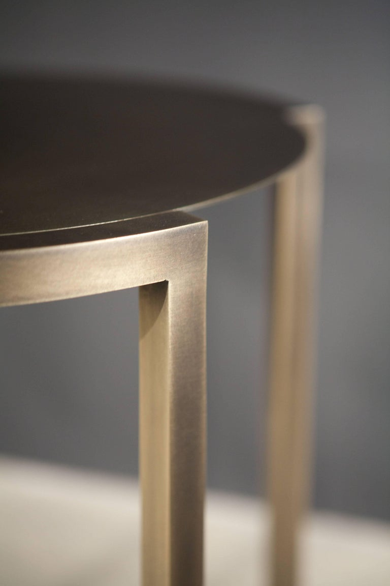 Covet Brass Side Table by Soraya Osorio In New Condition For Sale In Clinton Corners, NY