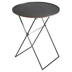ITO Folding Black Bronze Metal Side Table by Soraya Osorio