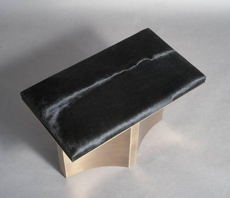 Modern V Brass Bench by Soraya Osorio For Sale