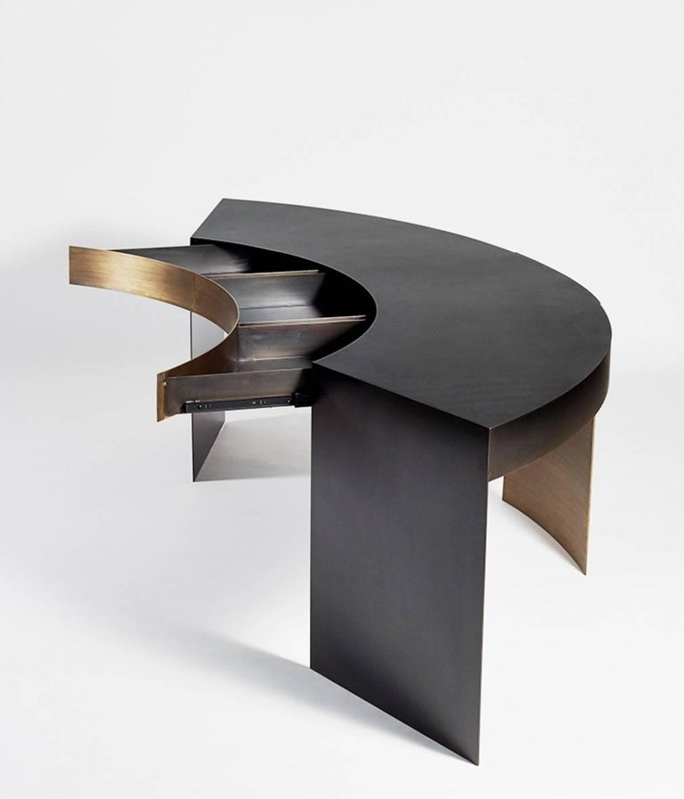 American Epic Metal Desk by Soraya Osorio For Sale