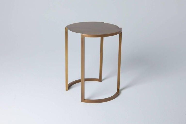 American Covet Brass Side Table by Soraya Osorio For Sale
