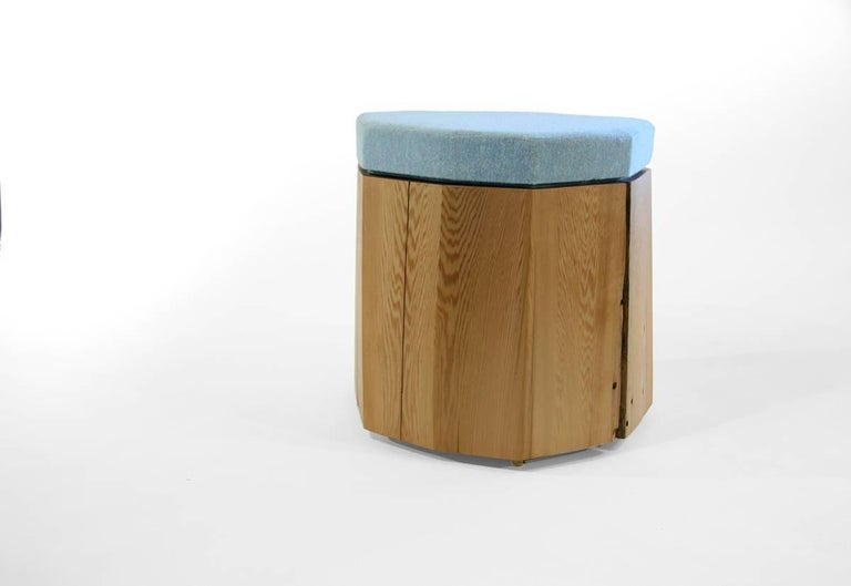 Contemporary Nurselog Side Table / Planter in Western Red Cedar with Planter Insert For Sale