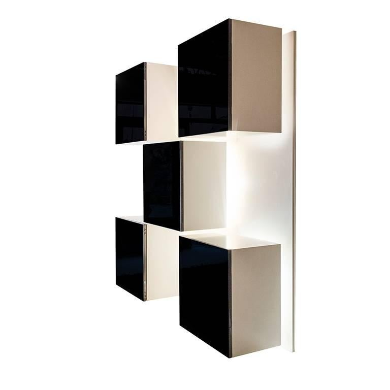 Italian Backlit Bookcase Designed by Roberto Monsani for Acerbis For Sale