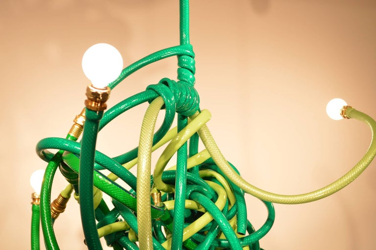 Other Green Garden Hose Chandelier Style Lighting Fixture For Sale
