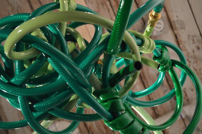 Green Garden Hose Chandelier Style Lighting Fixture For Sale 1