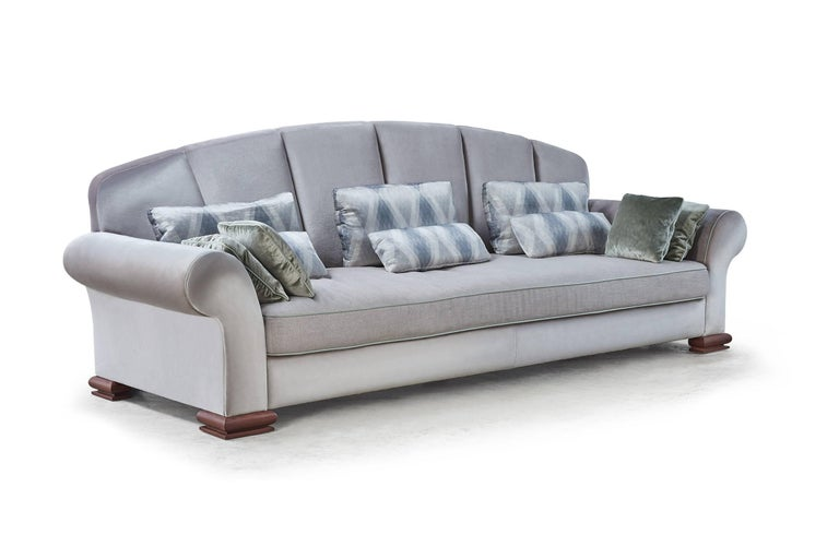 Hand-Crafted Large Art Deco Sofa by Rinck For Sale