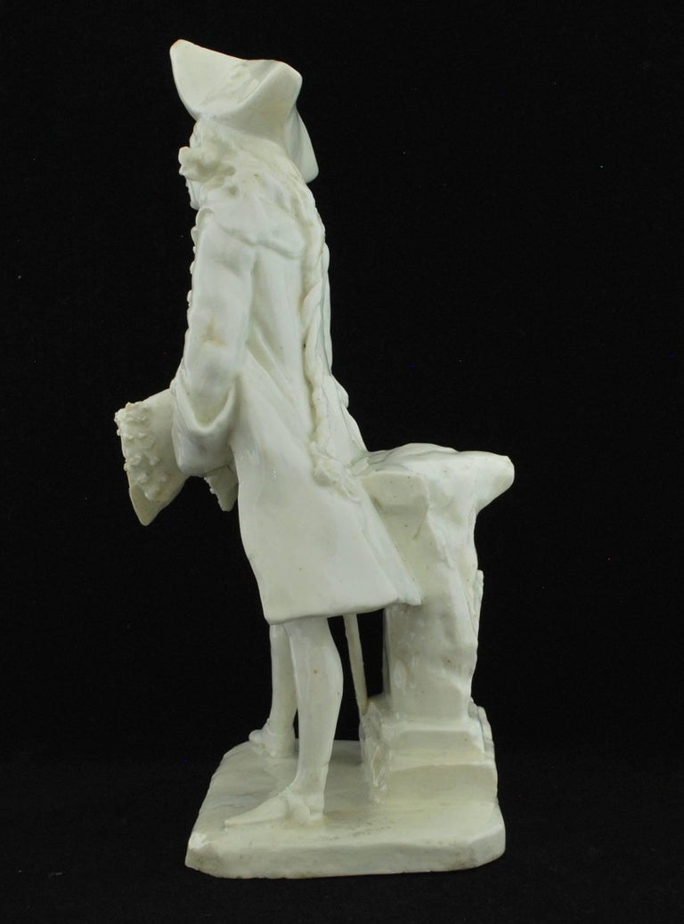 Henry Woodward Figure. Bow Porcelain C1749 In Good Condition For Sale In Melbourne, AU