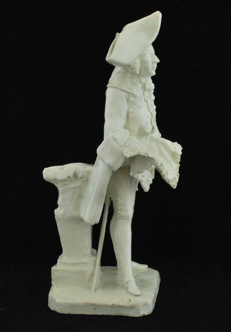 Neoclassical Henry Woodward Figure. Bow Porcelain C1749 For Sale