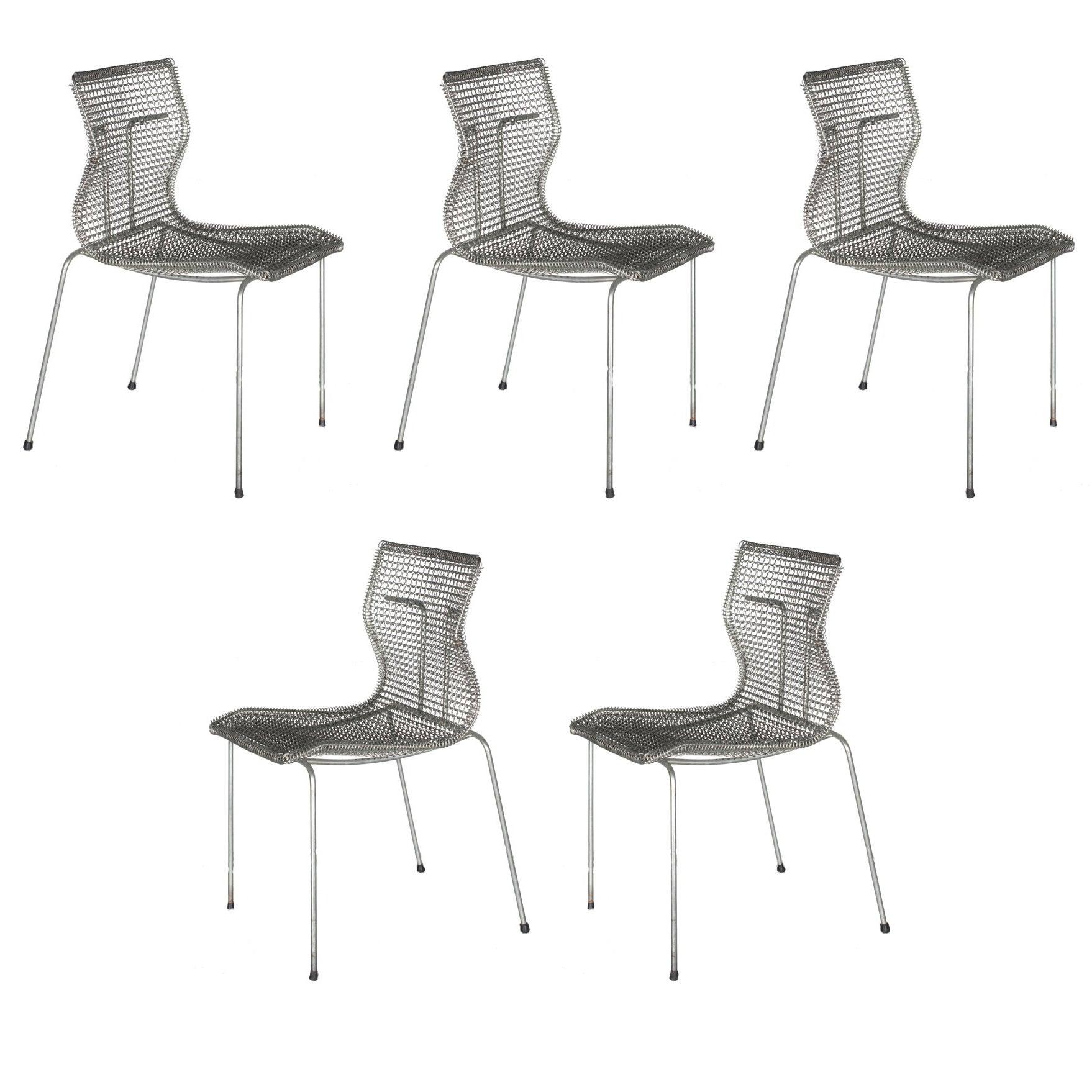 Niall O'Flynn 't Spectrum Five Rascal Chairs 1997 Galvanized Metal