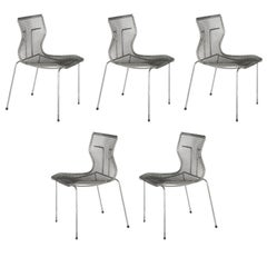 Niall O'Flynn 't Spectrum Five Rascal Chairs 1997 Galvanized Metal
