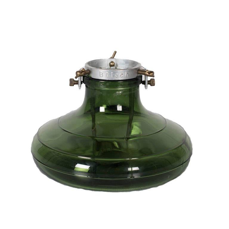 1930, Bulach Of Switzerland, Green Glass Christmas Tree Stand For Sale