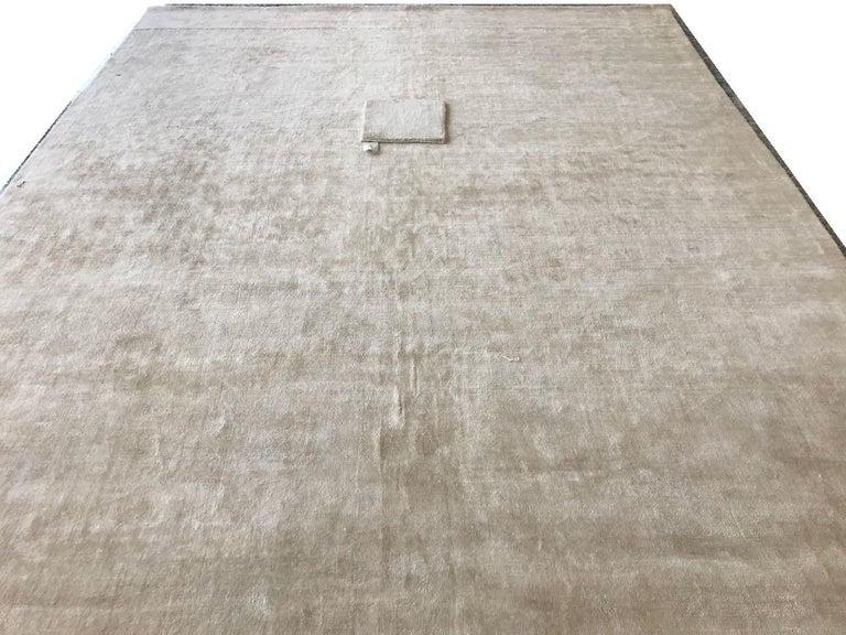 Solide Und Neutrale Elfenbein Teppich Bonn Belfast Weiche Bambus