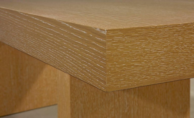 Modern Sabbia Desk in Cerused Rift Oak by Aguirre Design For Sale 1