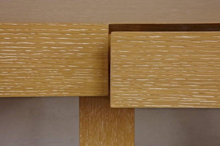 Contemporary Modern Sabbia Desk in Cerused Rift Oak by Aguirre Design For Sale