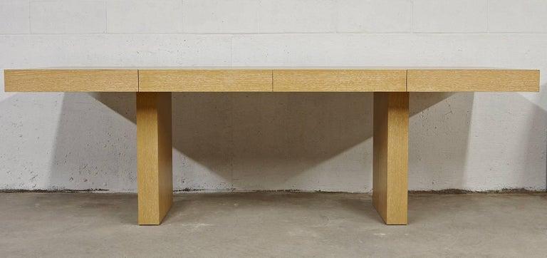 American Modern Sabbia Desk in Cerused Rift Oak by Aguirre Design For Sale