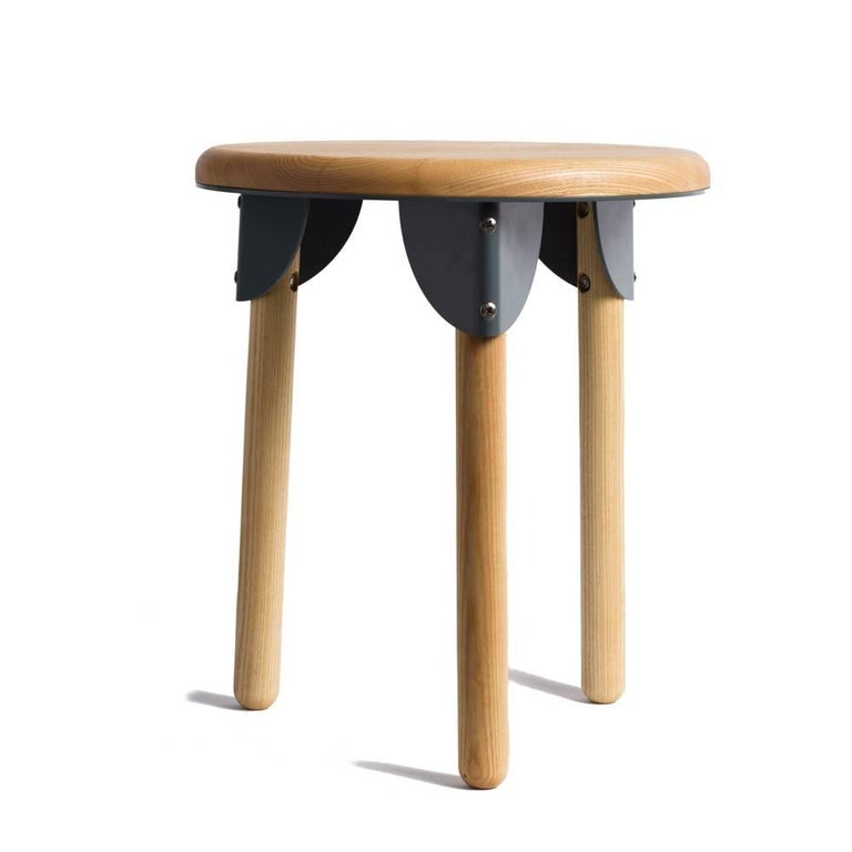 Minimalist Ash Stools Or Low Table Pair For Sale At 1stdibs
